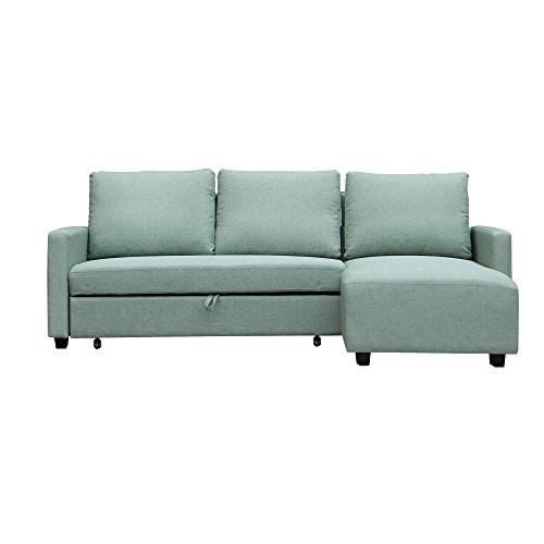 Furniture 247 Sofa in L-Form, Beidseitig verwendbar - Grün