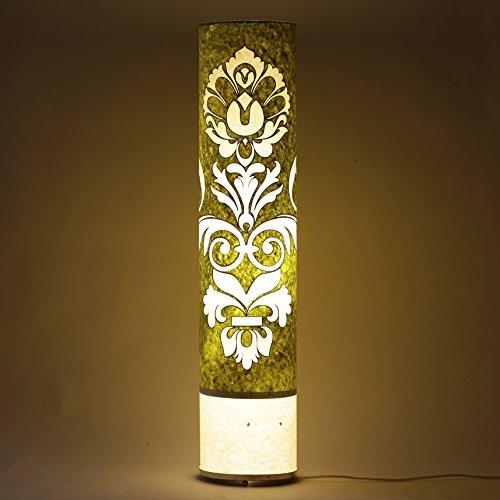 engineered-handmade-paper-green-white-long-cylinderical-floor-lamp-living-bedroom-light
