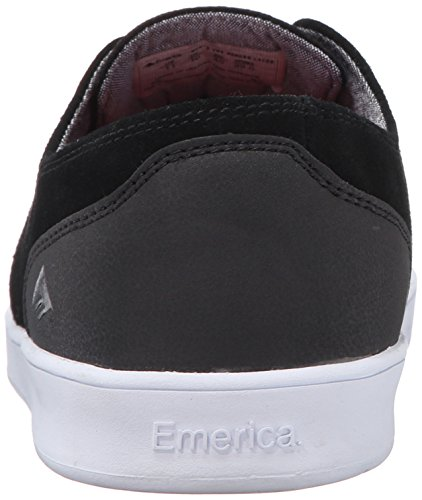 Emerica the Romero Laced Blak Wh, Chaussures de Skateboard Homme Noir (Black Black White 552)