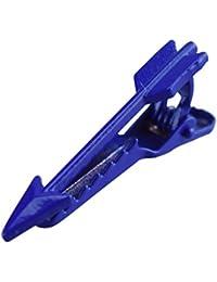Men's Gift Bleu Arrow Company Fixe-cravate fin en forme de Clip 4 cm