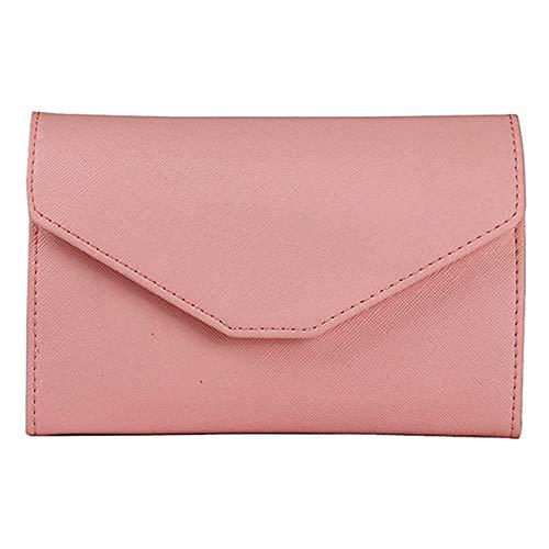 erthome Neutral Multi-Purpose Travel Passport Wallet Tri-fold Document Organizer Holder Tasche Kosmetiktasche Geldbörse Abendtasche Lässig Tasche (Rosa)