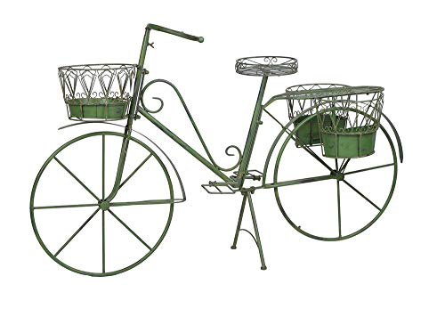 Deko Fahrrad Gartendeko Metallrad zum Bepflanzen 4 Körbe Pflanzrad Blumenständer aja229 Palazzo Exklusiv