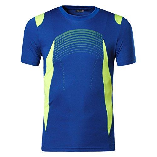 Men's Summer Designer Quick Dry Slim Fit Tee Shirt OceanBlue