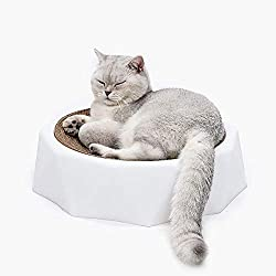 SZGS Cat nest pet bed-Diamond shape cat scratch board claws big corrugated paper cat litter wear cat toy cat scratch board nest cat supplies, As a gift