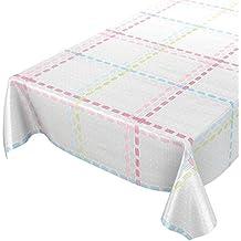 ANRO Mantel Hule Cera Mantel Encerado Mantel Textil Rayas Limpiar. Trenzado, Toalla, Bunt