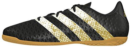adidas Herren Ace 16.4 in Fußballschuhe, Schwarz (Core Black/Ftwr White/Gold Metallic), 45 1/3 EU
