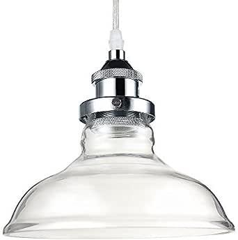Glighone Pendelleuchte Vintage Glas Hängelampe Industrial