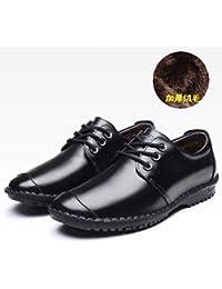 4442ece97dd LOVDRAM Bottes Homme Automne Et Hiver Hommes D Âge Moyen en Cuir Chaussures  Business Dress Chaussures Hommes…