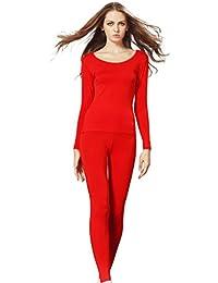Liang Rou cuello redondo elástico para top de mujer y juego de calzoncillos con la par inferior delgada