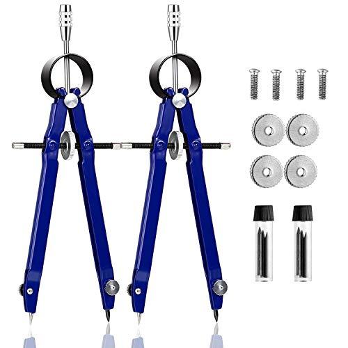 Schnellverstellzirkel, Zirkel Factory Neon mit Zusatzminen und Anspitzmöglichkeit(Blau)