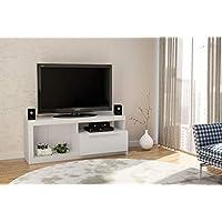 طاولة تلفزيون بوليتورنو، حتى حجم 60 بوصة - 160523، المقاس: 60 سم × 150 سم × 46 سم ابيض