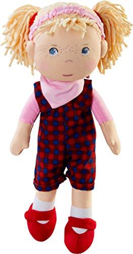 HABA 303665 - Puppe Zoje | Stoffpuppe zum Spielen und Kuscheln | Puppe aus weichen, waschbaren Materialien | Geschenk zum 1. Geburtstag | Größe: 30 cm