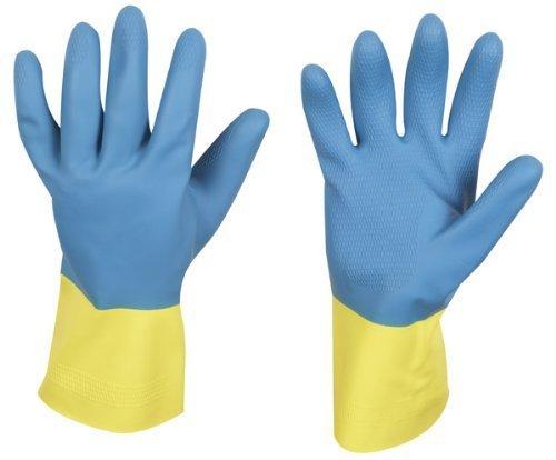 stronghand Industrie Gummihandschuh KENORA, blau-gelb, Größe 10, lebensmittelgeeignet und chemikalienbeständig