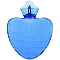 Warm Einfach 1 L Warmwasser-Flasche Sicher Wasser-gefüllt, Warmwasser-Flasche (Herzförmig, blau) preisvergleich bei billige-tabletten.eu