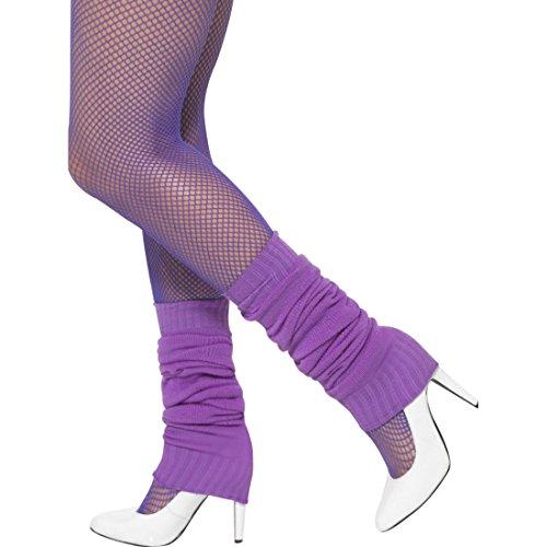 Beinwärmer Aerobic Stulpen 80er Jahre lila Legwarmers Ballett Beinstulpen Achtziger Faschingskostüm Accessoire Tanzstulpen Kostümzubehör