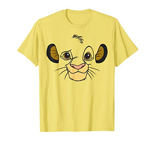 Disney Lion King Simba Face Halloween Graphic T-Shirt