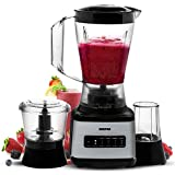 Geepas 500W 3 in 1 Food Jug Blender with 1.5L BPA Free Jar