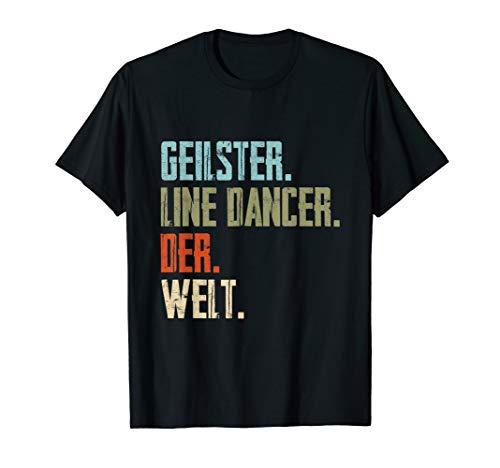 Line Kostüm Dance - I love Line Dancer Paartanz Westerntanz Country Music T-Shirt