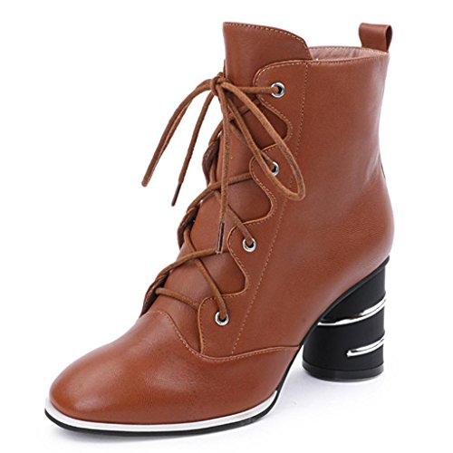 l'automne d'hiver des femmes rétro bottes Bottes femme martin bottes bottes basse en cuir véritable 7HPfFe