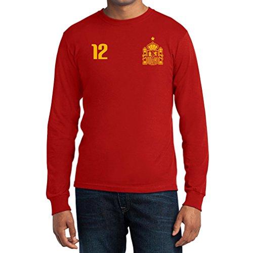 Maglia uomo - coppa del mondo - fan spagna t-shirt maglietta uomo manica lunga x-large rosso