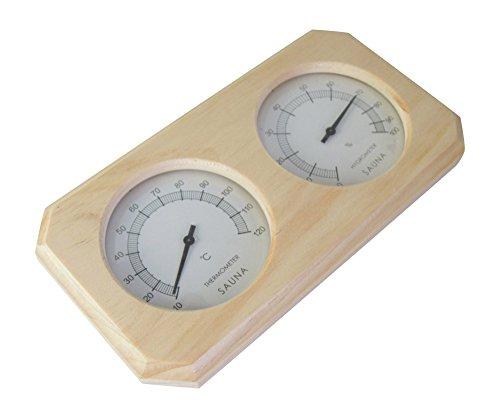 Sauna Thermo und Hygrometer aus Holz - 3