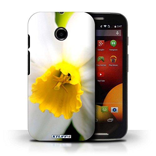 Kobalt® Imprimé Etui / Coque pour Motorola Moto E (2014) / Champs de fleurs conception / Série floral Fleurs Fleur blanche