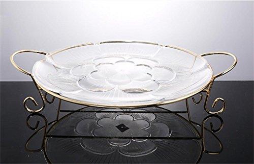 DELLT- Base acrilico con piedistallo Fiore lastra trasparente piatto di