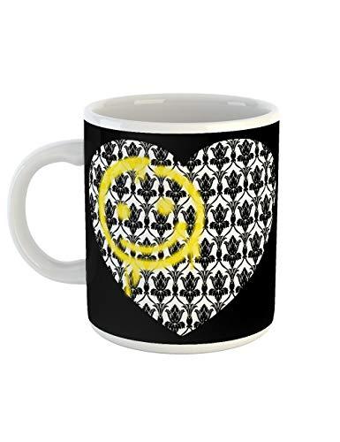 clothinx Kaffeetasse mit Aufdruck Smiley Tapete