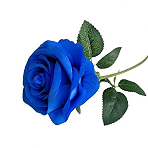 Demarkt Künstliche Rose Blumen Seidenrosen Deko Gefälschte Blumen für Wohnaccessoires Deko Blau