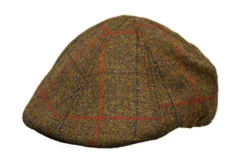 Crown Gap (im Freien) Schottischer Tweed 6Panel Mütze mit gebogenem Ivy Cap, Unisex, Harvest Brown Womens Brown Tweed
