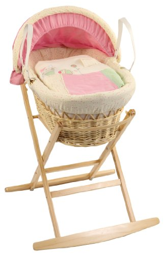 Dormouse Prickles and Whiskers Wicker Moses Basket (Original Natural)