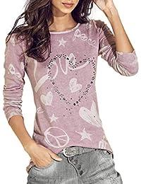 1456369db22d Camicia A Maniche Lunghe Autunno Base Primaverile Eleganti Shirt Donna  Abbigliamento Festivo Manica Lunga Rotondo Collo Modello…