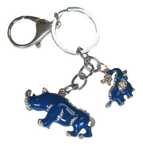 Feng Shui importación Feng Shui elefante azul y rinoceronte llavero