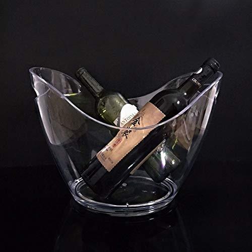 Eiskübel Eiskühler EIS Eimer Sektkühler Eiskübel, Transparenter KTV-Sektkübel Ingotfood-Eimer Kunststoff Weinfass Eiskübel Bar Bierfass Für KTV-Party-Bar Hochzeit Zu Hause (Size : Large)