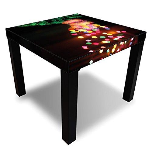 Printalio - Weihnachtsbeleuchtung - Möbelaufkleber für IKEA Lack 55x55cm Beistelltisch bekleben Fotomotivaufkleber | Fotosticker Bedruckt