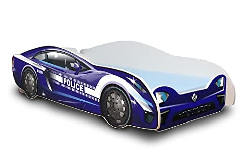 Autobett in zwei Farben mit Lattenrost und Matratze 80x180 cm Top Angebot! (Blau)