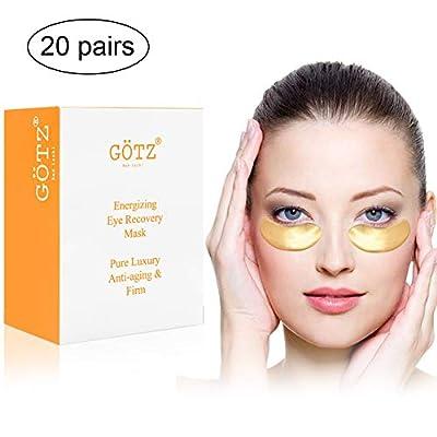 20 Pairs 24K Gold Collagen Eye Mask Premium Anti Aging Under Eye Pads Patches for Puffy Eyes Eye Bags Treatment Under Eye Dark Circle Pads Anti Wrinkle Eye Patches Eye Gel Pads Eye Treatment Mask