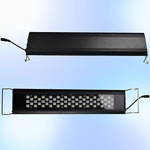 RunQiao Lampada a LED per acquario da 18 W con struttura in alluminio, 76 cm