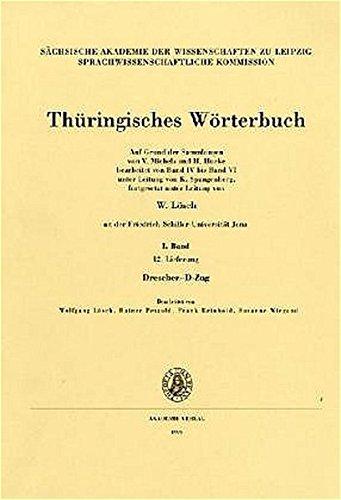 Thüringisches Wörterbuch: I. Band, 12. Lieferung (Drescher - D-Zug)