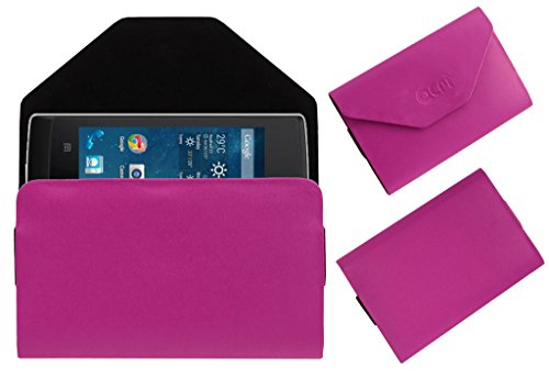 Acm Premium Pouch Case For Panasonic T9 Flip Flap Cover Holder Pink  available at amazon for Rs.179