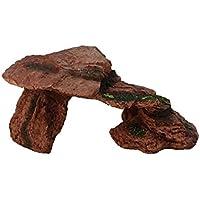 emours reptil cueva hábitat decoración tortuga dragón Barbudo, adhesiva, lagartos, te bronceas plataforma resina rampa Hide Out Acuario, tamaño mediano