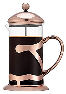 SmartHom French Press Coffee Maker 34 Oz 8 Cups, Particular Coffee Press & Tea Maker with Triple Filters & Plated Stainless Steel Base & Durable Heat Resistant Glass from SmartHom