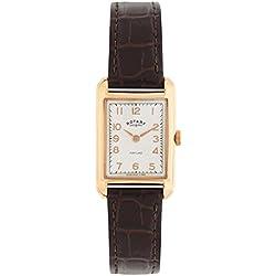 Rotary Watches - LS02699/01 - Montre Femme - Quartz - Analogique - Bracelet Cuir Marron