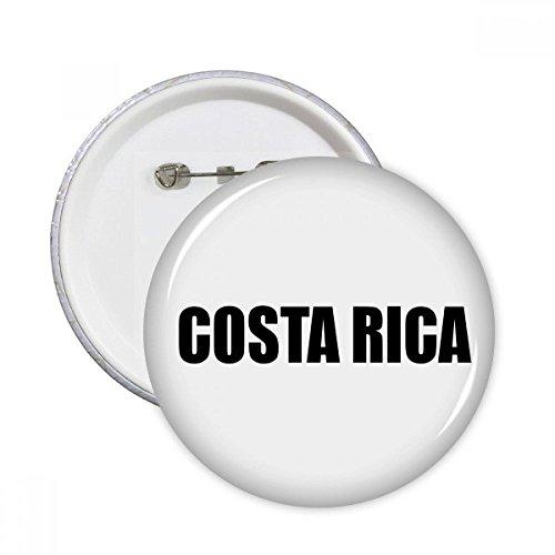 DIYthinker Regalo botón Costa Rica País Nombre Negro