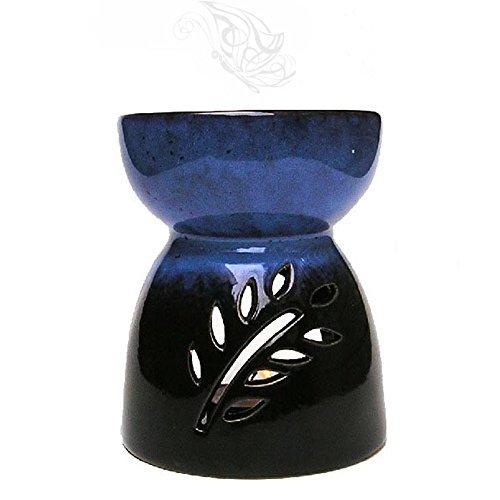 toim Vase aus Keramik in Form Hohl Floral Aroma Lampe Kerze Warmers Duft Wärmer Öl Diffusor ätherisches Öl Lampe Aromatherapie Ofen Räuchergefäß Wax Melt Wärmer Aroma Brenner dunkel