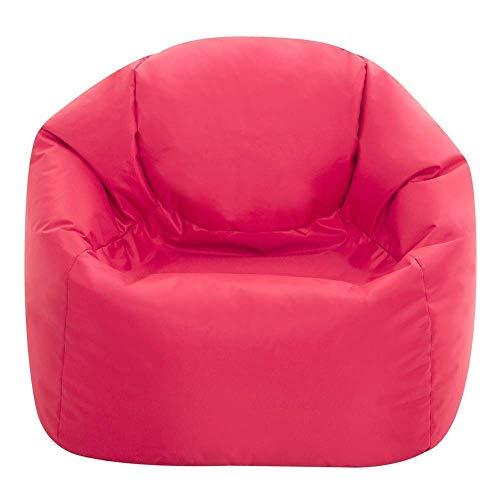 Bean Bag Bazaar® Kinder Sitzsack - Sitzsack Sessel für Kinder - Innen Außen (Wasserabweisend) (Rosa, Mittel)