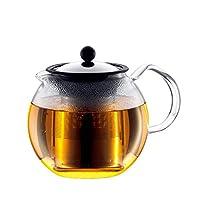 Bodum Assam Tea Press With Filter, Bd-1801-16, Clear, 1 litre, 18/8 Stainless Steel