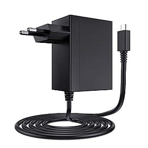 EXTSUD Ladegerät für Nintendo Switch, Nintendo Switch USB Typ C Netzteil 15V PD Schnellladegerät Adapter Charger Kompatibel mit Nintendo Switch Lite, TV-Modus unterstützt