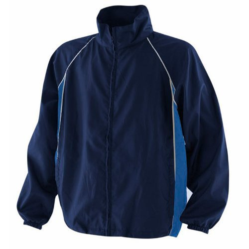 Finden & Hales Piped Showerproof Training Jacket Navy/Royal/White