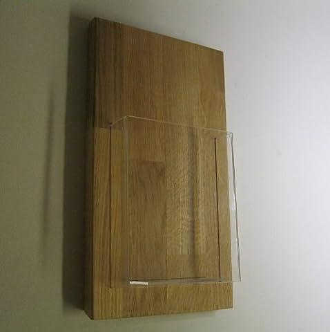 11x21 DIN-Lang DL Wand Flyerhalter Holz Eiche Prospektständer Flyerständer Prospekthalter Postkarte